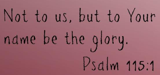 Psalm 115 1