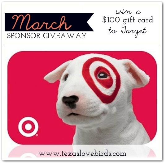 March Target Gift Card Giveaway